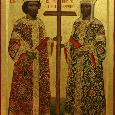 Sfinții Mari Împărați și întocmai cu Apostolii, Constantin și mama sa Elena