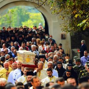 Aducerea Moaștelor Sfântului Constantin Brâncoveanu la Hurezi