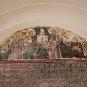 Icoana hramului - Schitul Sfinții Apostoli, Mănăstirea Hurezi