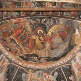 Pogorârea la Iad - frescă, Mănăstirea Hurezi