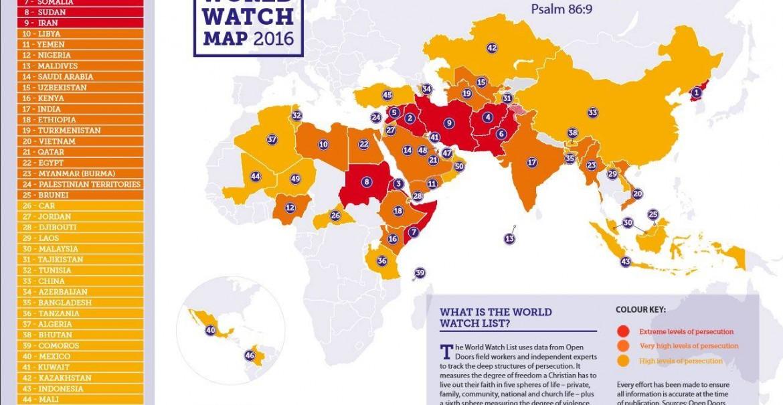 Harta persecuțiilor