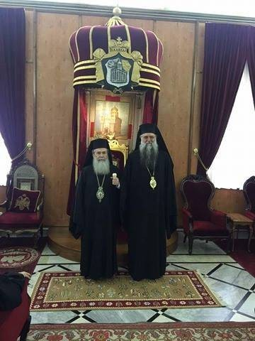 Patriarhul Teofil al Ierusalimului și ÎPS Varsanufie