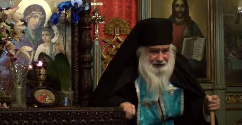 Părintele Neonil Ștefan, starețul Sfintei Mănăstiri Frăsinei