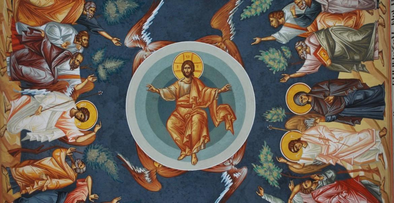 Înălțarea Domnului - frescă, Paraclisul Mănăstirii Arnota