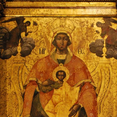 Icoana Maicii Domnului  - catapeteasma Mănăstirii Hurezi
