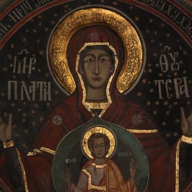 Maica Domnului - frescă, Paraclisul Arhiepiscopal Buna Vestire