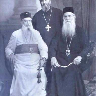 Mitropolitul Firmilian, Episcopul Iosif și Arh. Ghermano Dineață